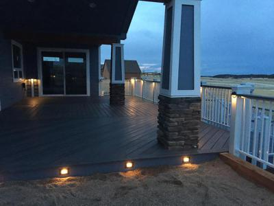Custom Accent Lighting by Deck Works in Colorado Springs