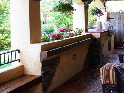 Stucco Flower Boxes by Deck Works in Colorado Springs