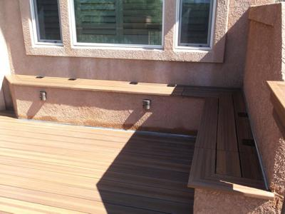Custom Storage Bench by Deck Works in Colorado Springs