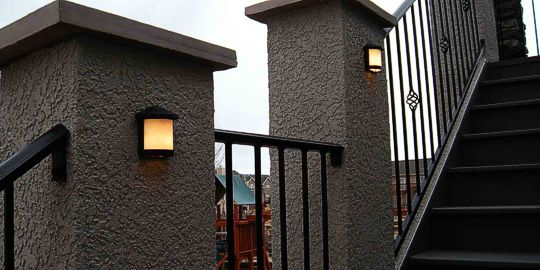 Custom Steel and Stucco Railings by Deck Works ,Colorado Springs