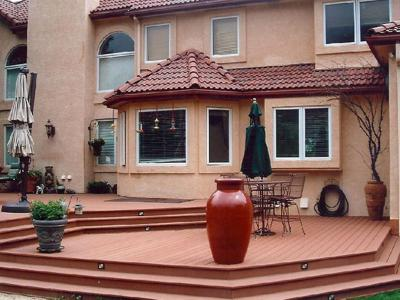 Multi Level Deck with Outdoor Living by Deck Works in Colorado Springs