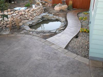Custom Decorative Stamped Concrete by Deck Works in Colorado Springs