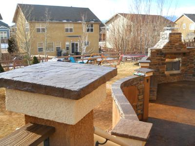 Custom Decorative Concrete Top by Deck Works in Colorado Springs