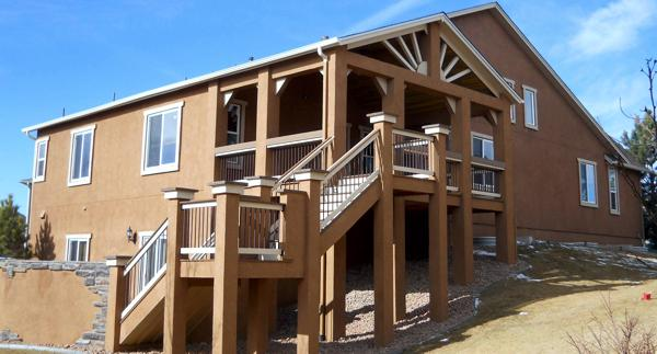 Custom Deck built by by Deck Works, Colorado Springs