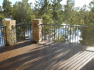 Deck with Built in Jacuzzi by Deck Works in Colorado Springs