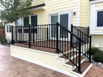 Simple and Sleek Deck by Deck Works in Colorado Springs