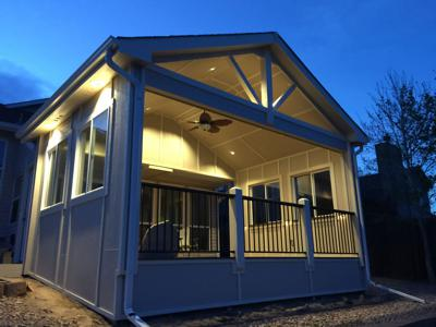Enclosed Patio by Deck Works in Colorado Springs