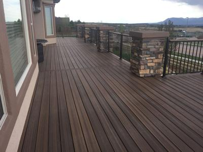 Stucco & Stone Deck by Deck Works in Colorado Springs