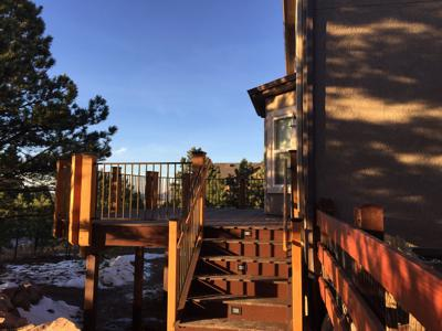 Redwood Deck by Deck Works in Colorado Springs