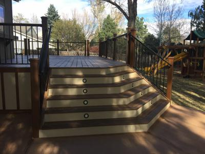 Deck With Concrete Patio by Deck Works in Colorado Springs