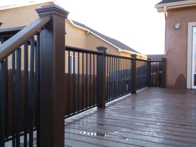 Deck with Iron Rail by Deck Works in Colorado Springs