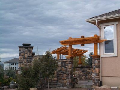Outdoor Living Space by Deck Works in Colorado Springs
