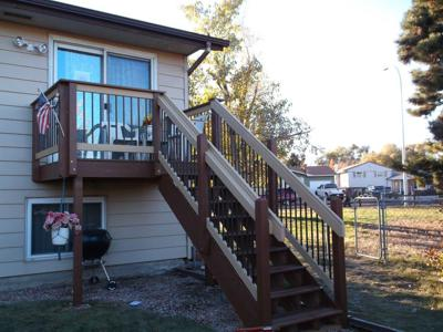 Small Painted Deck by Deck Works in Colorado Springs