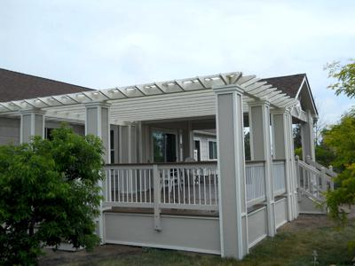 Deck with Pergola & Cover by Deck Works in Colorado Springs