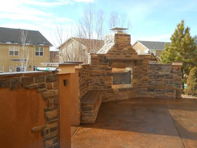 Deck with Outdoor Living Space by Deck Works in Colorado Springs
