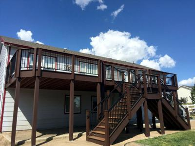 Steel Railing by Deck Works in Colorado Springs