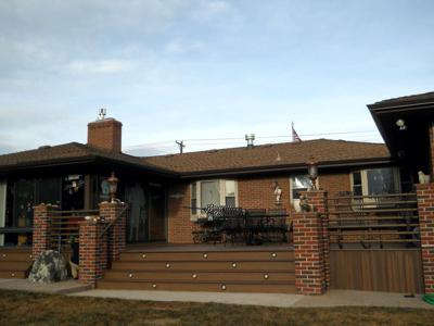 Brick & Steel Railing by Deck Works in Colorado Springs