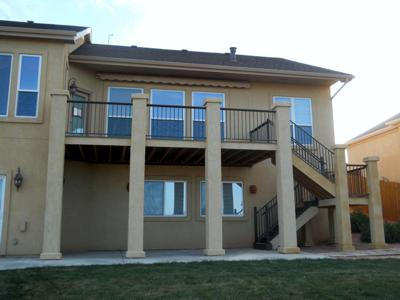 Stucco & Steel Railing by Deck Works in Colorado Springs