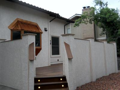 Stucco Patio Walls by Deck Works in Colorado Springs